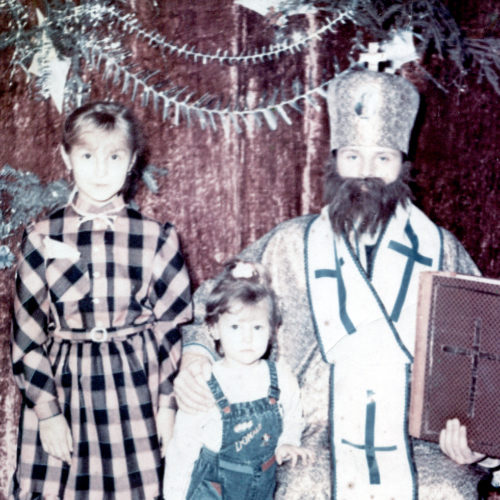 With my sister and Saint Nikolas-19.12.1991