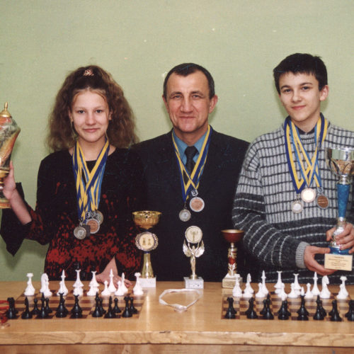 With my first coach M.Matvienko