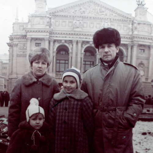 My family-Lviv's Opera-1992