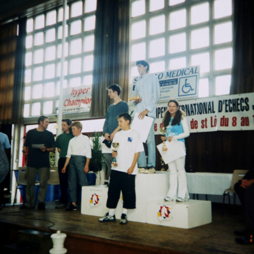 The 3-rd place in Open Agneaux St.Lo U18 (France-2004)