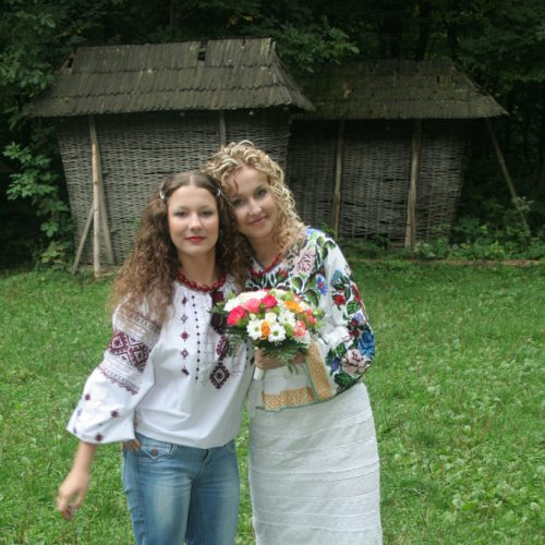Me and my sister on her wedding day!Lviv-2006