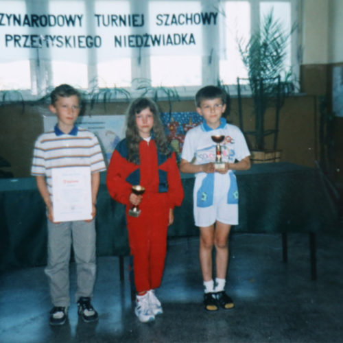 The 1-st place in Przemysl Kids Open Tournament (Poland-1997)