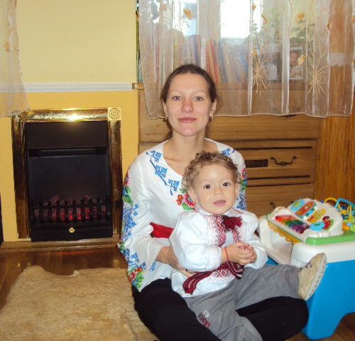 With my second godson Yulian-2011